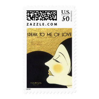 Vintage Speak to Me of Love 1930 Sheet Music Cover Postage