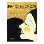 Vintage Speak to Me of Love 1930 Sheet Music Cover Postcard