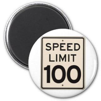 Vintage Speed Limit Sign Speed Limit 100 mph Magnet