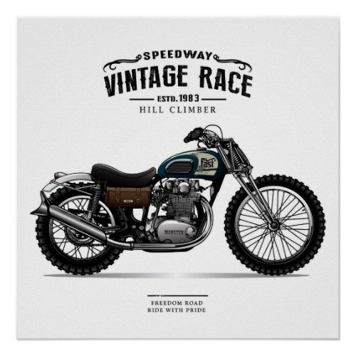 Vintage Speedway Chopper Motorcycle