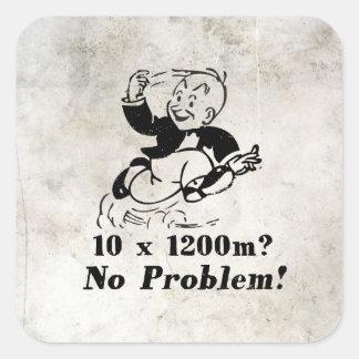 Vintage speedwork square sticker