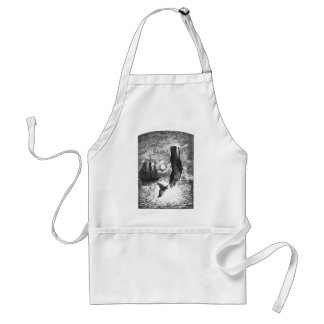 Vintage Sperm Whale Breaching, Marine Life Animals Adult Apron