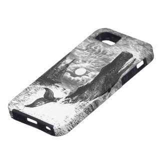 Vintage Sperm Whale Breaching, Marine Life Animals iPhone 5 Cover
