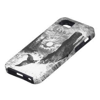 Vintage Sperm Whale Breaching, Marine Life Animals iPhone SE/5/5s Case