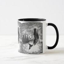 Vintage Sperm Whale Breaching, Marine Life Animals Mug
