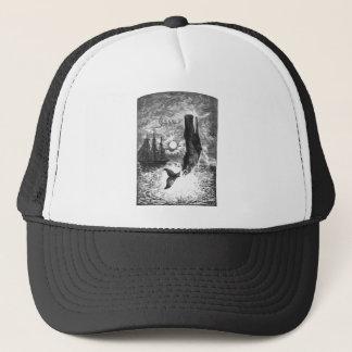 Vintage Sperm Whale Breaching, Marine Life Animals Trucker Hat