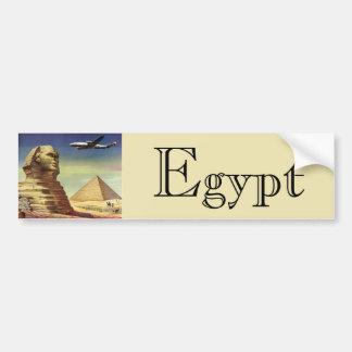 Vintage Sphinx Airplane Desert Pyramids Egypt Giza Car Bumper Sticker