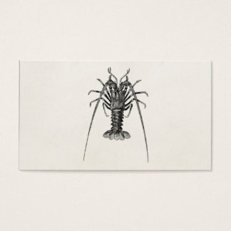 Vintage Spiny Lobster Personalized Template Business Card