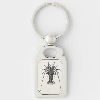 Vintage Spiny Lobster Personalized Template Keychain