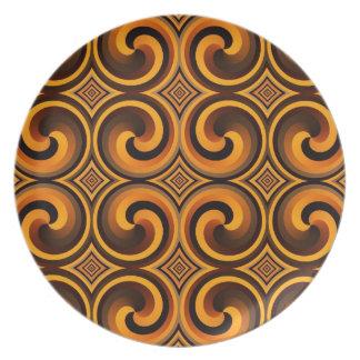 vintage spiral pattern Plate