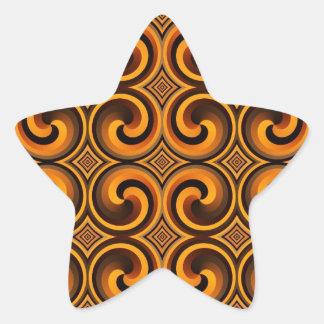 vintage spiral pattern star Sticker
