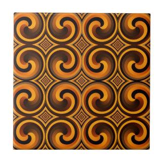 vintage spiral pattern tile