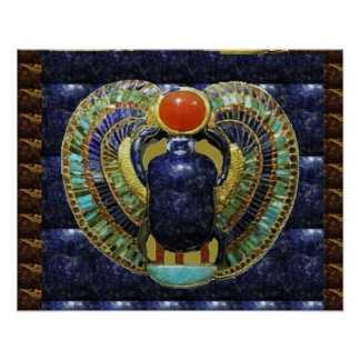 Vintage Spiritual COSMIC EGYPTIAN Temple Art Posters