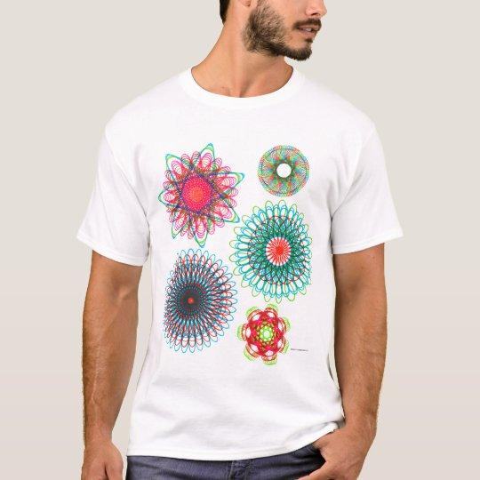 Vintage Spirograph Illustration Kitsch T-Shirt