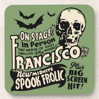 Vintage Spook Show - Francisco Spook Frolic Drink Coaster