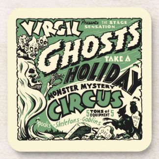 Vintage Spook Show Poster Art - Ghosts on Holiday! Beverage Coaster