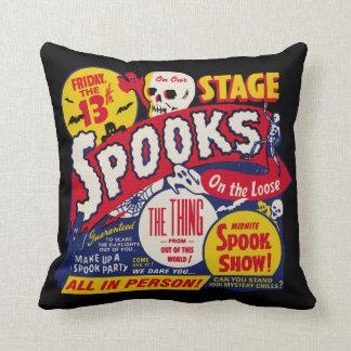 Vintage Spook Show Poster Art Pillow