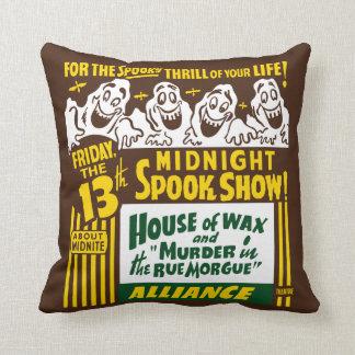 Vintage Spook Show Poster Art - Pillow