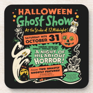 Vintage Spook Show Poster Art - Set of 6 Coasters