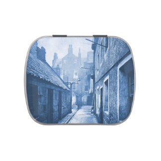 Vintage Spooky Old Alley Street Scene Candy Tin