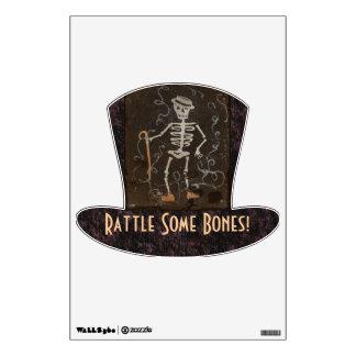 Vintage Spooky Skeleton Wall Skin