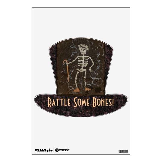 Vintage Spooky Skeleton Wall Sticker