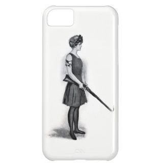 Vintage Sporting Girl w/ Gun iPhone 5C Case