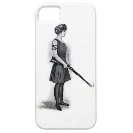 Vintage Sporting Girl w/ Gun iPhone Case iPhone 5 Covers