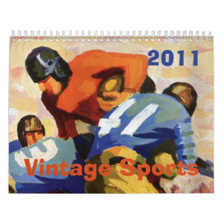 Vintage Sports 2011 Wall Calendar