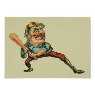 Vintage Sports, Angry Baseball Player Card