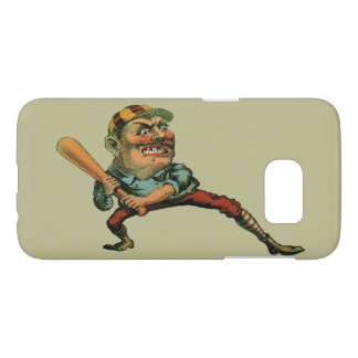 Vintage Sports, Angry Baseball Player Samsung Galaxy S7 Case