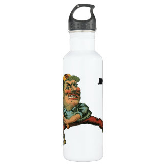 Vintage Sports, Angry Baseball Player Water Bottle