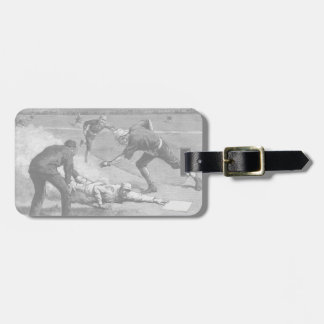 Vintage Sports Antique Baseball in Black and White Bag Tag