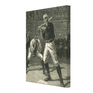 Vintage Sports, Antique Baseball Players Gallery Wrap Canvas