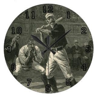 Vintage Sports, Antique Baseball Players Large Clock