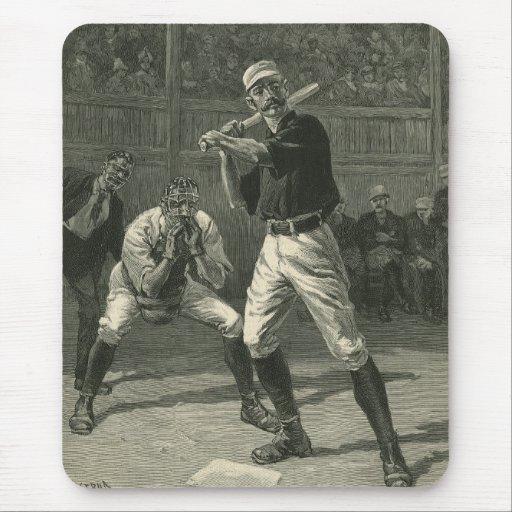 Vintage Sports, Antique Baseball Players Mousepad
