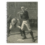 Vintage Sports, Antique Baseball Players Note Book