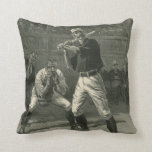 Vintage Sports, Antique Baseball Players Throw Pillow