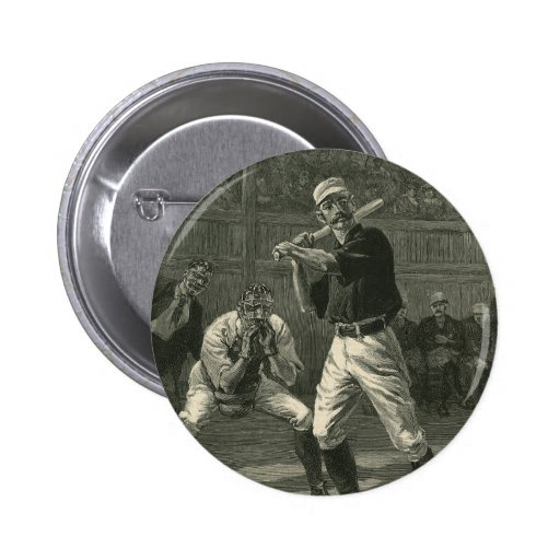 Vintage Sports, Antique Baseball Players Pin