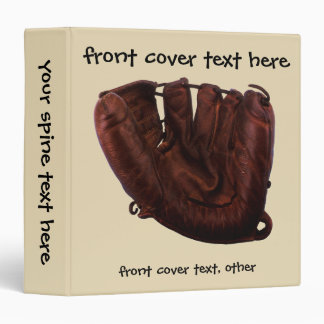 Vintage Sports, Antique Leather Baseball Glove 3 Ring Binder