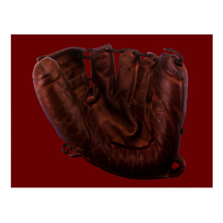 Vintage Sports, Antique Leather Baseball Glove Postcard
