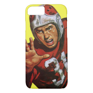 Vintage Sports Athlete Football Player Runningback iPhone 8/7 Case