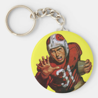 Vintage Sports Athlete Football Player Runningback Keychain