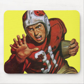 Vintage Sports Athlete Football Player Runningback Mouse Pad