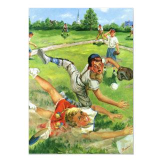 Vintage Sports Baseball Boy or Girl Birthday Party Invite
