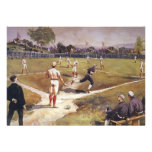 Vintage Sports, Baseball by Louis Prang Personalized Invite