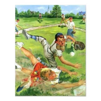 Vintage Sports Baseball, Children Teams Playing Card