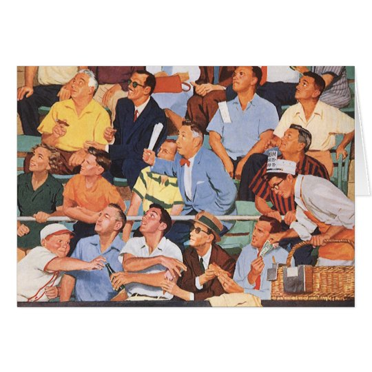 Vintage Sports Baseball Fans Watching a Game Card