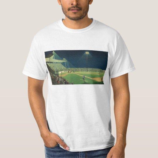 Vintage Sports, Baseball Game at Night T-Shirt