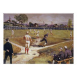 Vintage Sports Baseball Game by Henry Sandham Poster